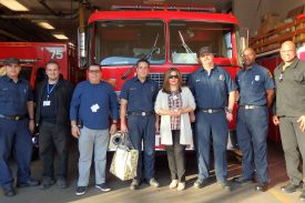 ALF Administrator and staff at Fire Station 75