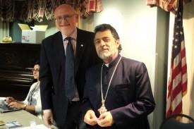 Board Chairman Joseph Kanimian and H.E. Archbishop Hovnan Derderian