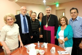 Bishop Mikael Mouradian, Eparch, with a few members of the Ararat Home Board of Trustees