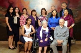 Standing in the back row from left to right: Ani Hovannisian Kevorkian, Vicky Tumikyan, Ani Dikranian, Maggie Mangassarian-Goschin, Adrineh Ghookasian, Vahe Vartanian, Derik Ghookasian